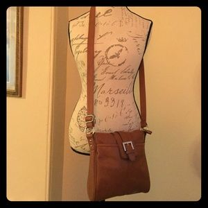 Brown faux leather Target purse